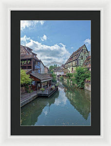 The Village Of Colmar In France - Framed Print 13.375 X 20.000 / White Black
