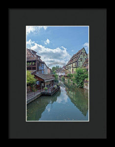 The Village Of Colmar In France - Framed Print 6.625 X 10.000 / Black