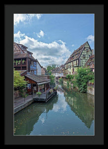 The Village Of Colmar In France - Framed Print 16.000 X 24.000 / Black