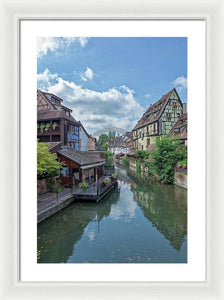The Village Of Colmar In France - Framed Print 16.000 X 24.000 / White