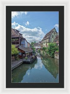 The Village Of Colmar In France - Framed Print 16.000 X 24.000 / White Black