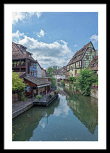Load image into Gallery viewer, The Village Of Colmar In France - Framed Print 20.000 X 30.000 / Black White