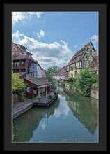 Load image into Gallery viewer, The Village Of Colmar In France - Framed Print 20.000 X 30.000 / Black