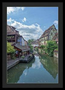 The Village Of Colmar In France - Framed Print 20.000 X 30.000 / Black