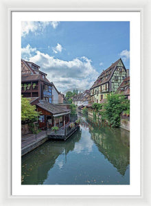 The Village Of Colmar In France - Framed Print 20.000 X 30.000 / White