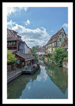 Load image into Gallery viewer, The Village Of Colmar In France - Framed Print 24.000 X 36.000 / Black White