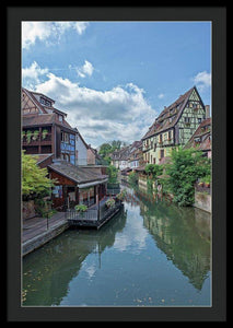 The Village Of Colmar In France - Framed Print 24.000 X 36.000 / Black