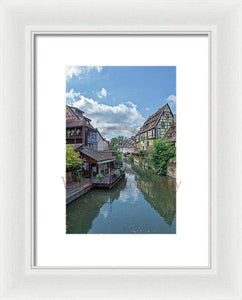 The Village Of Colmar In France - Framed Print 6.625 X 10.000 / White