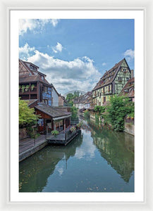 The Village Of Colmar In France - Framed Print 24.000 X 36.000 / White