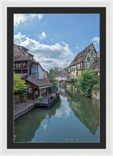 Load image into Gallery viewer, The Village Of Colmar In France - Framed Print 24.000 X 36.000 / White Black
