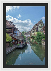 The Village Of Colmar In France - Framed Print 24.000 X 36.000 / White Black