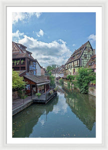 The Village Of Colmar In France - Framed Print 26.750 X 40.000 / White