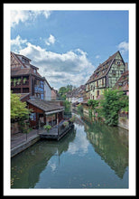Load image into Gallery viewer, The Village Of Colmar In France - Framed Print 32.000 X 48.000 / Black White