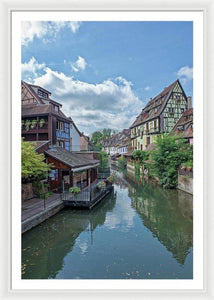 The Village Of Colmar In France - Framed Print 32.000 X 48.000 / White