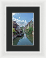 Load image into Gallery viewer, The Village Of Colmar In France - Framed Print 6.625 X 10.000 / White Black