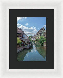 The Village Of Colmar In France - Framed Print 6.625 X 10.000 / White Black