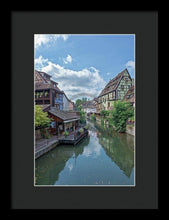 Load image into Gallery viewer, The Village Of Colmar In France - Framed Print 8.000 X 12.000 / Black