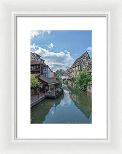 The Village Of Colmar In France - Framed Print 8.000 X 12.000 / White