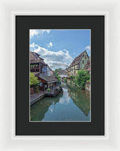 Load image into Gallery viewer, The Village Of Colmar In France - Framed Print 8.000 X 12.000 / White Black