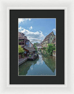 The Village Of Colmar In France - Framed Print 8.000 X 12.000 / White Black