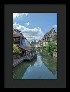 The Village Of Colmar In France - Framed Print 9.375 X 14.000 / Black