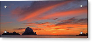 Panoramic On The Sunset On The Island Of Es Vedra, Ibiza - Acrylic Print