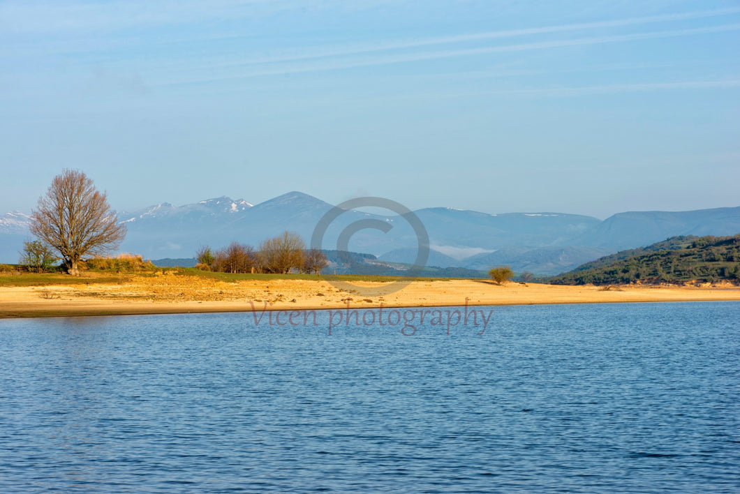 The reservoir of the Ebro in Cantabria