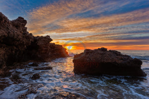 Dawn Between The Rocks Of A Cala De Oropesa Del Mar Photography