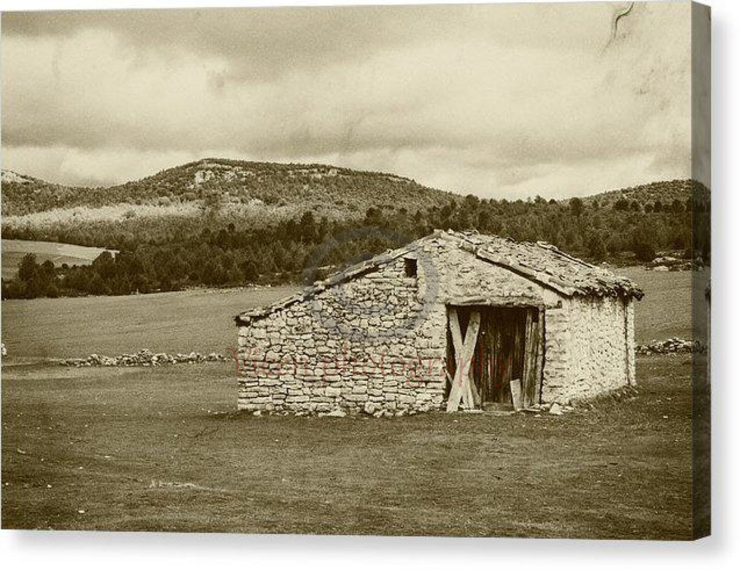Abandoned House With Old Photo Effect - Canvas Print