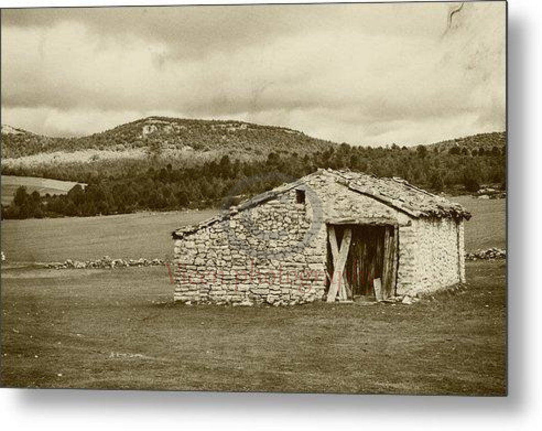 Abandoned House With Old Photo Effect - Metal Print