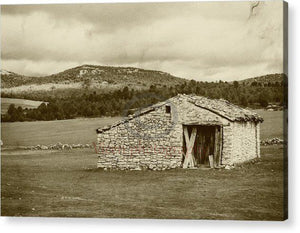 Abandoned House With Old Photo Effect - Acrylic Print