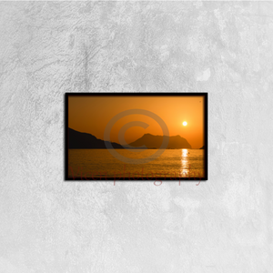 Sunrise On A Beach In Aguilas Murcia - Canvas Framed 50Cm×30Cm Framed Canvas