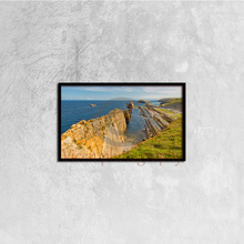 Load image into Gallery viewer, The Beach Of Arnia In Cantabria - Canvas framed