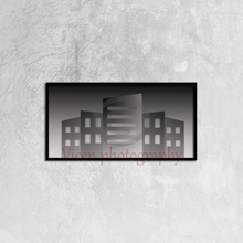 Load image into Gallery viewer, Illustration Of Buildings Of A City In Gray Color - Canvas framed