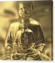 Load image into Gallery viewer, Golden Figures Of Buddha Meditating - Canvas Print