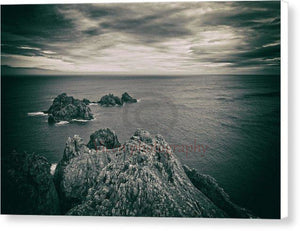 Ortegal Cape With Black And White Old Photo Effect - Canvas Print