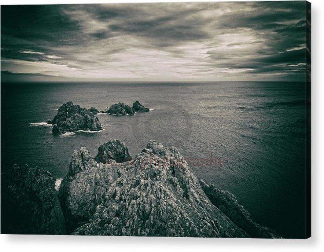Ortegal Cape With Black And White Old Photo Effect - Acrylic Print