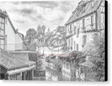 Load image into Gallery viewer, Colmar In France With A Drawing Effect - Canvas Print