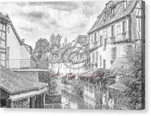 Colmar In France With A Drawing Effect - Canvas Print