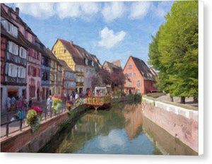 Colmar In France With An Impasto Effect - Canvas Print
