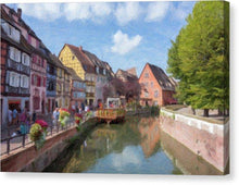 Load image into Gallery viewer, Colmar In France With An Impasto Effect - Canvas Print