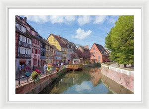 Colmar In France With An Impasto Effect - Framed Print