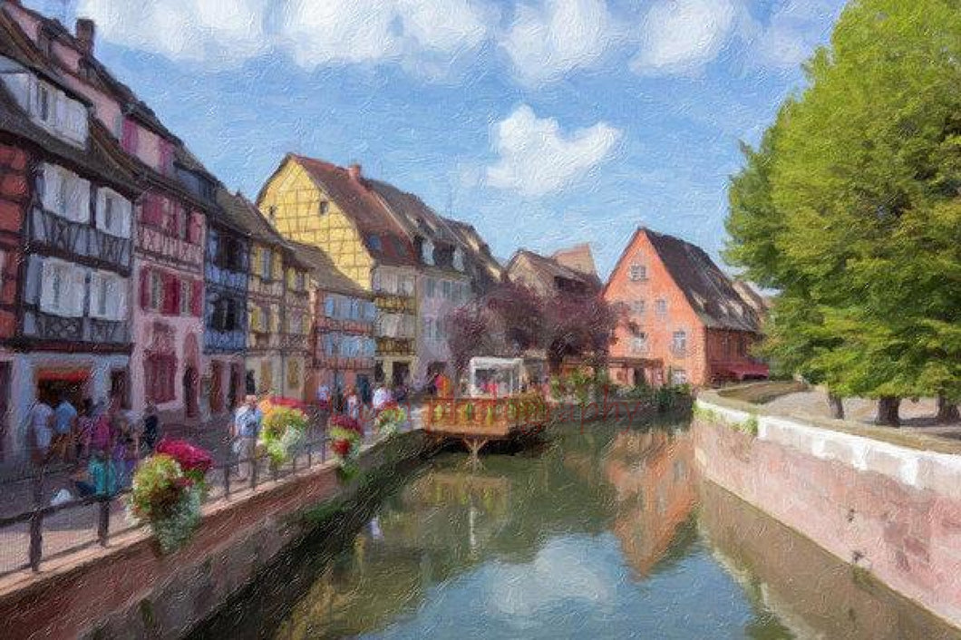 Colmar In France With An Impasto Effect - Art Print