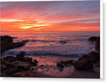 Load image into Gallery viewer, Reddish Dawn By The Sea Of Oropesa - Canvas Print