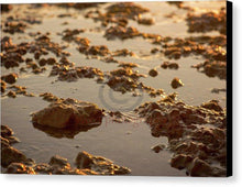 Load image into Gallery viewer, Small Stones On The Beach - Canvas Print 10.000 X 6.625 / Black Glossy