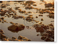 Load image into Gallery viewer, Small Stones On The Beach - Canvas Print 10.000 X 6.625 / White Glossy