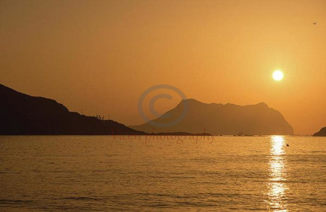 Sunrise On A Beach In Aguilas Murcia - Art Print 8.000 X 5.250 / Archival Matte Paper