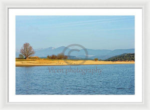 The Reservoir Of The Ebro In Cantabria - Framed Print
