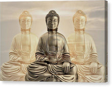 Load image into Gallery viewer, Three Buddhas With A Sunset Sky - Canvas Print