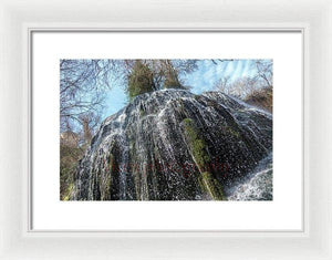 Waterfall In The Monasterio De Piedra - Framed Print